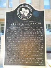 Sheriff Robert Martin Marker (jimmywayne) Tags: texas historic marker sheriff spearman hansfordcounty robertmartin