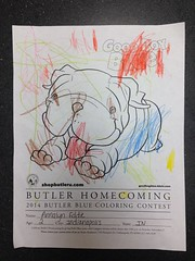 """First #Butler Homecoming Coloring Contest entry received. Keep them coming! • <a style=""""font-size:0.8em;"""" href=""""http://www.flickr.com/photos/73758397@N07/15074218909/"""" target=""""_blank"""">View on Flickr</a>"""
