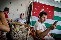 Before the elections (Maciek Leszczelowski) Tags: cafe russia elections abkhazia unrecognized separatists sukhumi sukhum abhazija abchazja