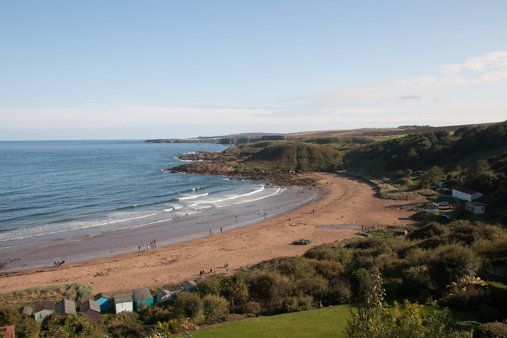 Coldingham Bay - view from Dunlaverock House B & B