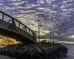 Shuwaikh beach sunset (Azarbhaijaan) Tags: bridge sunset sky beach pentax lovely munir azhar k10 baghdadi pakistaniphotographer k10d azharmunir drpanga