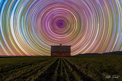 Breeza-Startrails (Kiall Frost) Tags: colour barn stars nikon nightscape farm trails australia superman nsw startrails breeza kiallfrost d800e