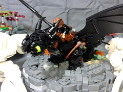 Beyond the Clouds (Stormbringer.) Tags: 3 clouds dragon lego 3a toothless diorama hiccup moc httyd httyd2