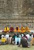 Group prayers at the Dhamek Stupa (wandervox) Tags: india nikon buddha buddhist monk buddhism holy varanasi enlightenment dharma pilgrimage prayers ganges uttarpradesh 2470 gautama dhamekhstupa d700 sarnarth dhamekstupa