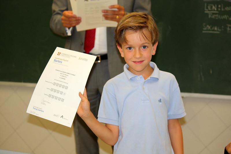 Entrega de diplomas de Cambridge. Septiembre 2014