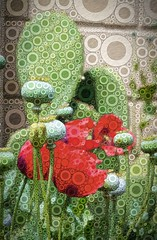 Cactus and Poppies (GeminEye27) Tags: cactus photomanipulation photoshop percolator ipad topazclean topazsimplify pixelbenderoilpaint