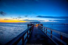 Sun & Moon (dbubis) Tags: ocean skyline sunrise tampa pier tampabay moonlight hdr bubis dbphoto nex6 dbubisphoto ilovetampabay