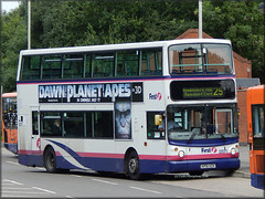 First 32071 (KP51 VZX) (Colin H,) Tags: bus vovo volvo leicester hill first 25 service alexander 2014 ibp mowmacre alx400 32071 b7tl vzx kp51 ipswichbuspage colinhumphrey kp51vzx