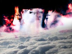 Possessed (gloriaghiani) Tags: portrait cloud white black fog photoshop self stars artwork flickr experiment manipulation soul experimentation universe sperimentation theuniverseiskillingme