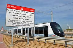 Dubai - Tram XVI (Frederik Buchleitner) Tags: dubai metro tram ubahn streetcar alstom jumeirah vae citadis trambahn vereinigtearabischeemirate strasenbahn  alstomcitadis402 citadis402  metrdubayy