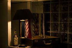 1930's nostalgia (bat0urav3) Tags: lamp ties dark lowlight escape display ale nostalgia dim suitcase 28135mm lostintime