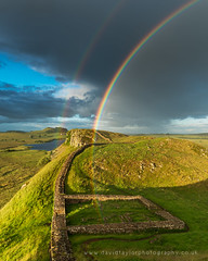 Milecastle Rainbow (dtaylorphotography) Tags: afternoon architecture britain british countryside day daytime england fort fortification greatbritain hadrianswallcountry horizontal landscape milecastle39 nnp nnpa northeast northumberland northumberlandnationalpark path rain rainbow remains roman route summer uk unitedkingdom weather worldheritagesite