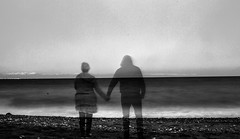 memories of a seaside walk monochrome (PDKImages) Tags: shadows ghosts love kiss beauty not there story looking memories waiting searching disappeared disappearing firstkiss lastkiss silhouettes hooded wishing monochrome sea coast waves blues blue lost palomarenaissance sky turkey
