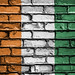 National Flag of Ivory Coast, Cote d'Ivoire on a Brick Wall