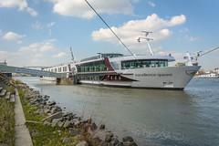 Excellence Queen (stevefge) Tags: nijmegen boats rivers waal waalkade mooring riverside riverbank sky water gelderland nederland netherlands nl nederlandvandaag reflectyourworld