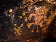 Larger Life (xjblue) Tags: 2017 mtb stgeorge area desert race rampage redrock rockart trip pictograph cave southernutah rock anthropomorph black yellow