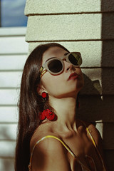 Gabrielle (TheJennire) Tags: photography fotografia foto photo canon camera camara colours colores cores light luz young tumblr indie teen people portrait lolita summer sunglasses fashion style face makeup girl sunlight sky
