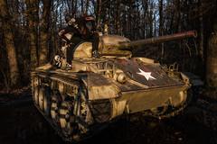 The Tank (Batram) Tags: panzer tank m24 chaffee urbex urban exploration gas mask maske gasmaske