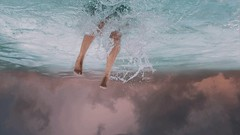 247/365 In An Alternate Reality (Katrina Y) Tags: selfportrait feet water conceptual concept 365project 2017 artsy art artistic parallel universe pink sky splash throughherlens