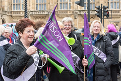 Women against State Pension Inequality (WASPI) protest on budget day, outside the House of Commons (Ian Davidson photographer Protected by PIXSY www.p) Tags: houseofcommons oap oldagepension waspi womenagainststatepensioninequality banners budget demography discrimination economics feminism inequalitypurple politics protest protesters rally shouting