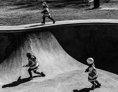Running children (geirrisberg) Tags: europa geografistedsnavn gjøvik nonaturfotover07052009naturfokus nordeuropa norden norge oppland skandinavia skatingparken østlandet