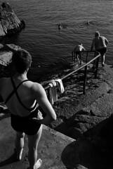 FF-063 (lumpy!) Tags: fortyfoot blackandwhite monochrome film leica trix water sea people street streetphotography dublin ireland swim