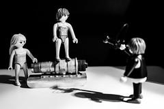 Bikini Shooting (Fujigraf) Tags: model bikini shooting kamera playmobil schatten fotograf kerze zündkerze