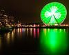If you shot LE, you can't tell it is raining. (Brendinni) Tags: seattle seattlewa waterfront seattlegreatwheel reflections reflection reflective green lights citylights cityscape nightphotography weownthenightsea columbialights smithtower piers