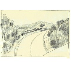 Road Sketch 01. Pencil on paper. #sketchbook #road #drawing #landscape