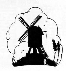 Ons eigen tijdschrift- van Houten_ 1926 ill Anton Pieck g (janwillemsen) Tags: onseigentijdschrift 1926 antonpieck magazineillustration silhouette windmill