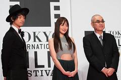 "Saito Takumi, Takanashi Rin & Sasabe Kiyoshi from ""The Sowing Traveller 3"" at Opening Ceremony of the Tokyo International Film Festival 2016"