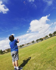 My big boy flying a kite for the first time.   #kite #letsgoflyakite (mrusc96) Tags: instagramapp square squareformat iphoneography uploaded:by=instagram lark