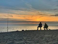 Fishing (efpiem72) Tags: sea seashore beach naples campania italy stillness calm longexposure idea apple holidays relax joy orange doubleexposure hdr loneliness alone photo iphone sunset villaggiocoppola fishermen