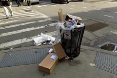 (paul.comstock) Tags: manhattan nyc newyork february 2017 feb2017 urban digital digitalphotography digitalphotograph canons120 canon s120 8feb2017 wednesday garbage litter garbagecan