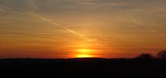 Sun pillar (panorama) (Petr Hykš) Tags: weak halo sun pillar meteorology sky clouds sunset weather