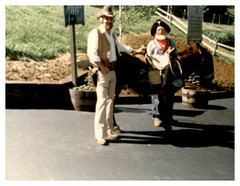 May 1981 - Silver Dollar City, Tennessee: Donkey (mavra_chang) Tags: scanned momsphotograph animals donkeys asses equines