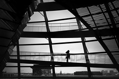 ...underthewingsofberlin... (*ines_maria) Tags: berlin germany reichstag urban urbanexploration city urbanart light woman window perspective roofs rooftops modern futuristic building inside lonely architecture couple panasonic dmcgx8 panasonicdmcgx8 bw blackandwhite blancetnoire monochrome mono