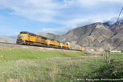 Freight through the countryside (matt c paulson) Tags: railfan utah railroad train locomotive freight manifest rails trains tracks wanderlust outdoors travel unionpacific scenery scenicutah utahrailway utahrailfan