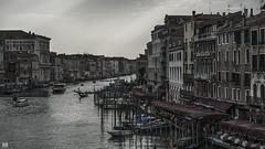 Evening in Venice (BAN - photography) Tags: venice grandcanal restaurants architecture gondolas windows rialtobridge d800e