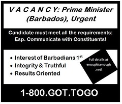 DLP change 3 seats... Is there an Opening in Government? (bajanreporter) Tags: apocryphal barbados electoral govt politics satire spoof voting