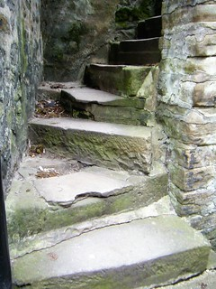 Skipton, West Yorkshire - old steps from canal to roadway