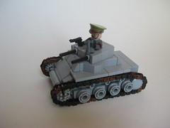 Panzerkampfwagen I Ausf. A (tyfighter07) Tags: 2 infantry 1 support tank lego nazi wwii binoculars german pistol ww2 ww panzer moc treads infantrytank panzer1 brickbuilder7