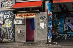 photokabine II (Chiarix) Tags: street blue berlin art abandoned germany graffiti photo strada foto fotografie blu empty picture cabina germania berlino vuoto abbandonato rovinato fototessere photokabine