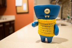 Uglyworld #2324 - Hopings - (Project On The Go - Image 156-365) (www.bazpics.com) Tags: new blue wool june project toy hope blog sweater cool day action handmade weekend think crochet steps vinyl knit 4th plan daily website figure jumper 365 adventures custom uglydoll total wedgie uglydolls 2014 hoping wedgehead uglyworld prettyugly barryoneilphotography adventuresinuglyworld uglyadventures