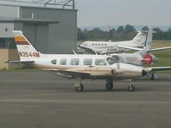 N3544M Piper Navajo 31 (Aircaft @ Gloucestershire Airport By James) Tags: james airport gloucestershire piper navajo 31 lloyds egbj n3544m