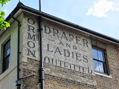 Ormond (moley75) Tags: england london unitedkingdom ghosts ealing westlondon hanwell ghostsign ormond oldsigns stationroad fadedhistory draperandladiesoutfitters