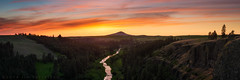 Steptoe Butte and the Palouse River at Sunset (Jim Patterson Photography) Tags: sunset green rural landscape washington spring farming rustic pullman americana tradition agriculture eastern rollinghills colfax agricultural palouse palouseriver steptoebutte jimpattersonphotography jimpattersonphotographycom seatosummitworkshops seatosummitworkshopscom