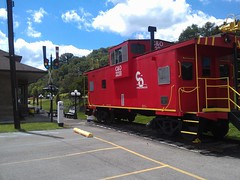 Chesapeake & Ohio Railroad Passenger Station- Catlettsburg KY (2) (kevystew) Tags: station kentucky caboose trainstation depot us60 us23 catlettsburg boydcounty chesapeakeandohiorailroad