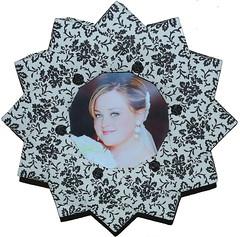 Bascetta/LaFosse/Pederson  Chinese Wheel (Modular Origami) (Fold In Progress) Tags: wedding ohio roses scrapbook paper bride frame flocked doublesided pederson lafosse bascetta ohiopaperfolders