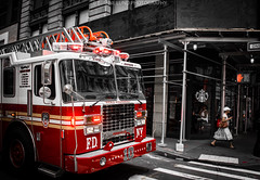 911 Star Bucks (Bjarne Lund (Djmurre)) Tags: newyork sigma starbucks fdny a77 2014 bjarnelund